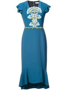 платье миди с оборками Peter Pilotto