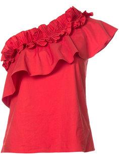 асимметричная блузка с оборками Saloni
