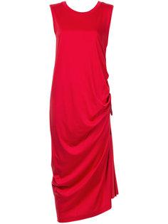 асимметричное платье без рукавов Aula