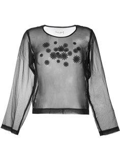 прозрачный топ с цветочной вышивкой Comme Des Garçons