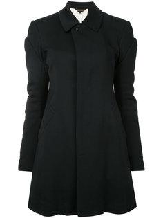 пальто с отделкой перьями Comme Des Garçons
