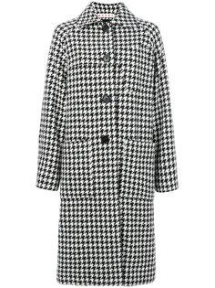 пальто с узором в ломаную клетку Marni