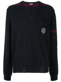 свитер с эффектом потертости Lanvin