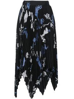 асимметричная плиссированная юбка Proenza Schouler
