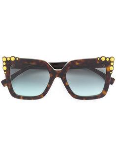 солнцезащитные очки в массивной квадратной оправе Fendi Eyewear