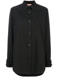 классическая однотонная рубашка Nº21