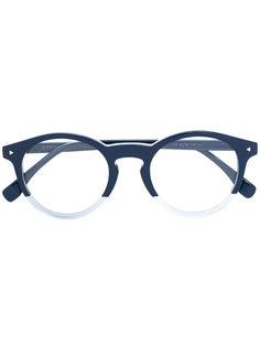 очки с круглой оправой Fendi Eyewear