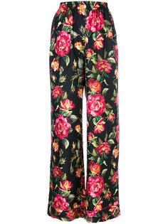 пижамные брюки с принтом роз Dolce & Gabbana