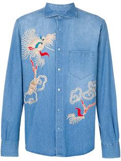 джинсовая рубашка с вышивкой Ermanno Scervino
