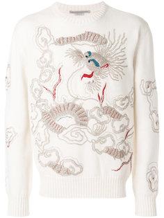 свитер с вышитым драконом Ermanno Scervino