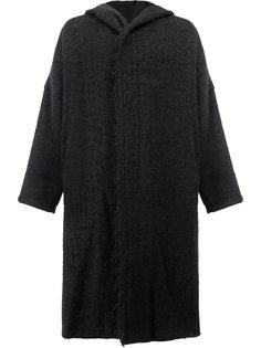 пальто с капюшоном свободного кроя Uma Wang