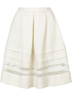 пышная юбка с кружевными вставками Ermanno Scervino