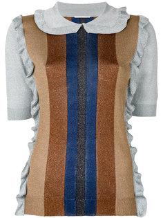 свитер из люрекса с оборками Marco De Vincenzo
