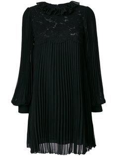 плиссированное платье с кружевной отделкой  Philosophy Di Lorenzo Serafini