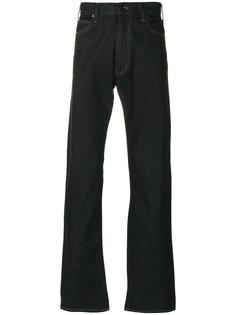 расклешенные джинсы с контрастной строчкой Armani Jeans