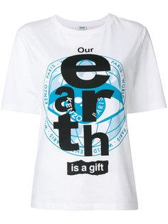 футболка с принтом-слоганом Kenzo