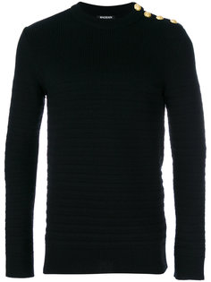 полосатый свитер Balmain