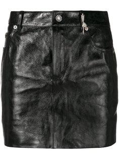 мини-юбка с деталью в виде стрелы и сердца Saint Laurent