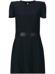 расклешенное платье с ремнем Alexander McQueen
