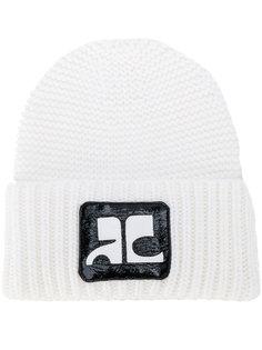 шапка-бини с нашивкой с логотипом Courrèges