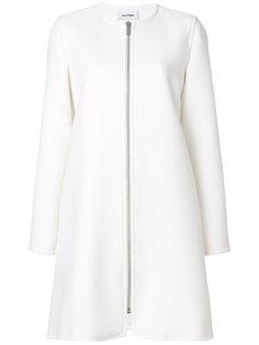 пальто без воротника на молнии Courrèges