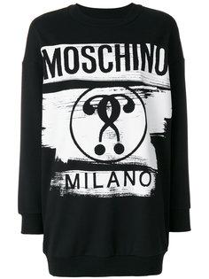 платье-толстовка с принтом Moschino