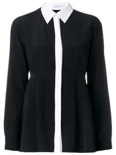 рубашка с контрастной отделкой  Givenchy