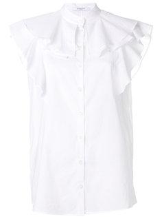 рубашка с оборками на плечах  Givenchy