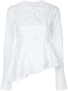 рубашка с косой баской Carven