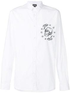 рубашка с вышитым черепом Just Cavalli