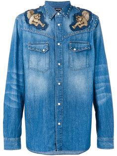 джинсовая рубашка с аппликацией Just Cavalli