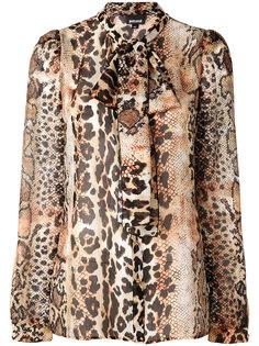 блузка с леопардовым принтом  Just Cavalli