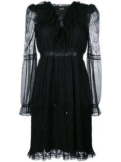 многослойное сетчатое платье  Just Cavalli