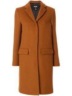 классическое пальто на пуговицах  MSGM
