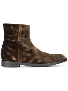 ботинки-челси из жатого бархата Ann Demeulemeester