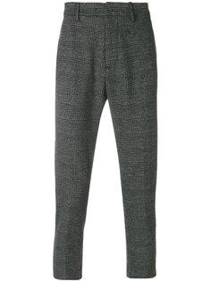 клетчатые строгие брюки Dondup