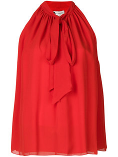 блузка без рукавов с воротником с завязкой Lanvin