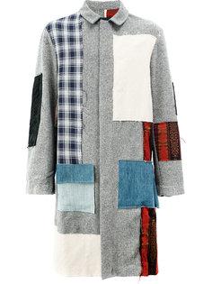 пальто с разными заплатками Moohong