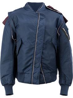 куртка асимметричного кроя Moohong