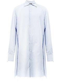 удлиненная однотонная рубашка Moohong