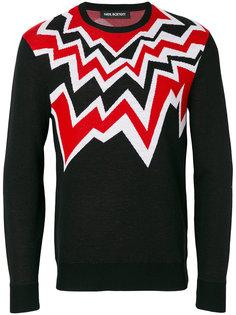 свитер с ломаным рисунком Neil Barrett