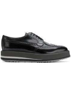 ботинки с дымчатым эффектом на шнуровке Prada