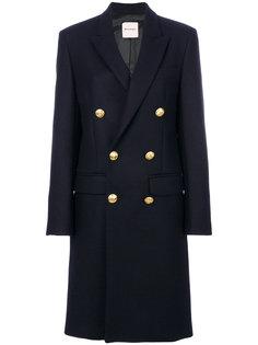 двубортное пальто  Palm Angels