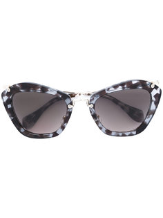 солнцезащитные очки с массивной оправой Miu Miu Eyewear