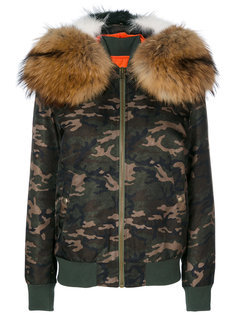 камуфляжная куртка-бомбер с капюшоном Mr & Mrs Italy