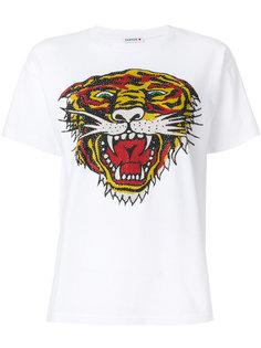 футболка с принтом-тигром со стразами P.A.R.O.S.H.