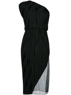 плиссированное платье на одно плечо Alexander Wang