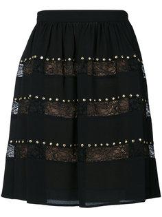 кружевная юбка с заклепками  Michael Michael Kors