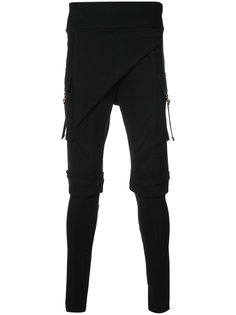узкие брюки с резными вставками Balmain