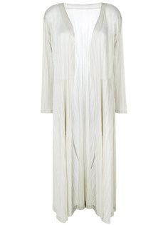 удлиненное плиссированное пальто Pleats Please By Issey Miyake